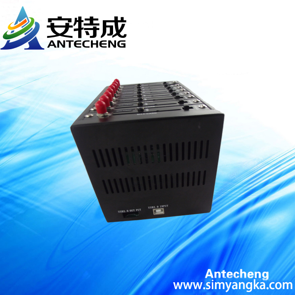 multi socket gsm gprs 8 ports modem Q2403 sms modem pool