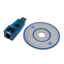 USB 1,1 к LAN RJ45 Ethernet 10/100 Мбит/с адаптер сетевой карты для Win7 Win8 Android Tablet PC Синий оптовая продажа