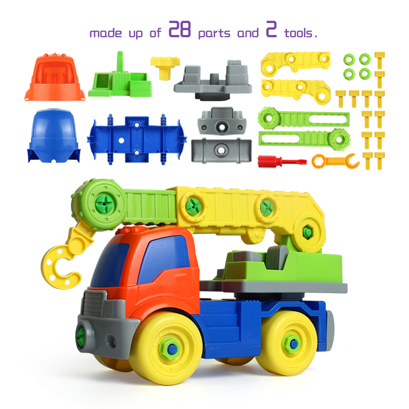 NºNASHAN modelo desmontaje ensamblaje bloques juguetes grúa ...