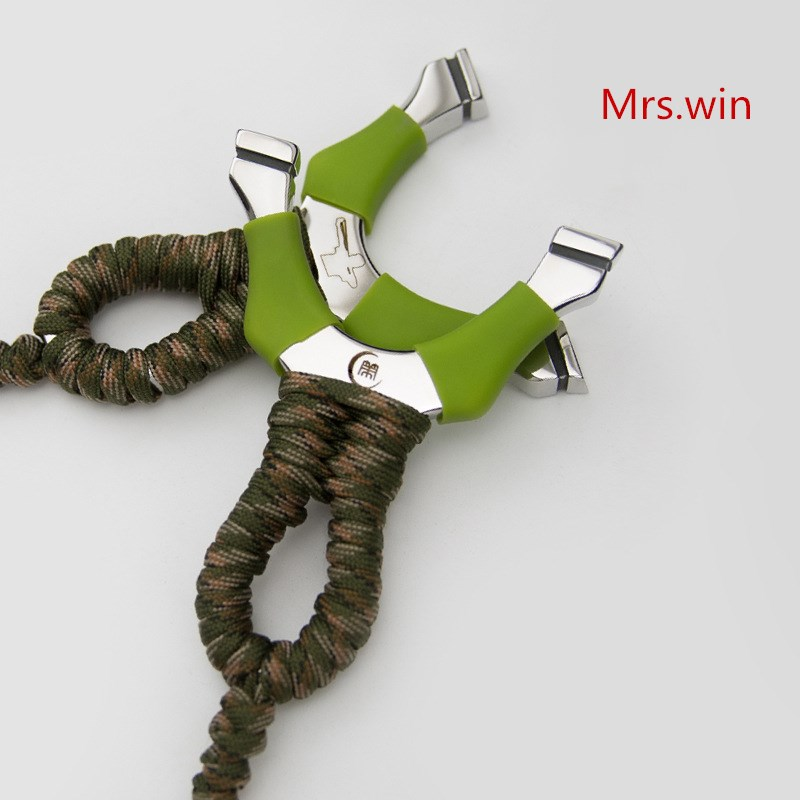 все цены на Super Powerful Sling shot Slingshot  stainless steel Slingshot Camouflage Bow Catapult Outdoor Hunting Sling Shot Hunt Tool