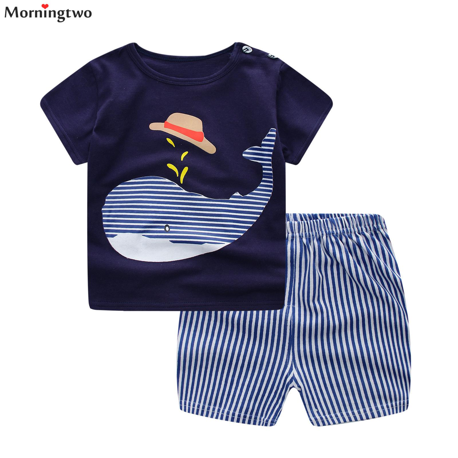 Baby Boy Clothes Set Summer Baby Boys Clothes Set Cotton Baby Clothing Suit (shirt+pants) Cartoon Infant Clothes Set For 18M-5Y цены онлайн