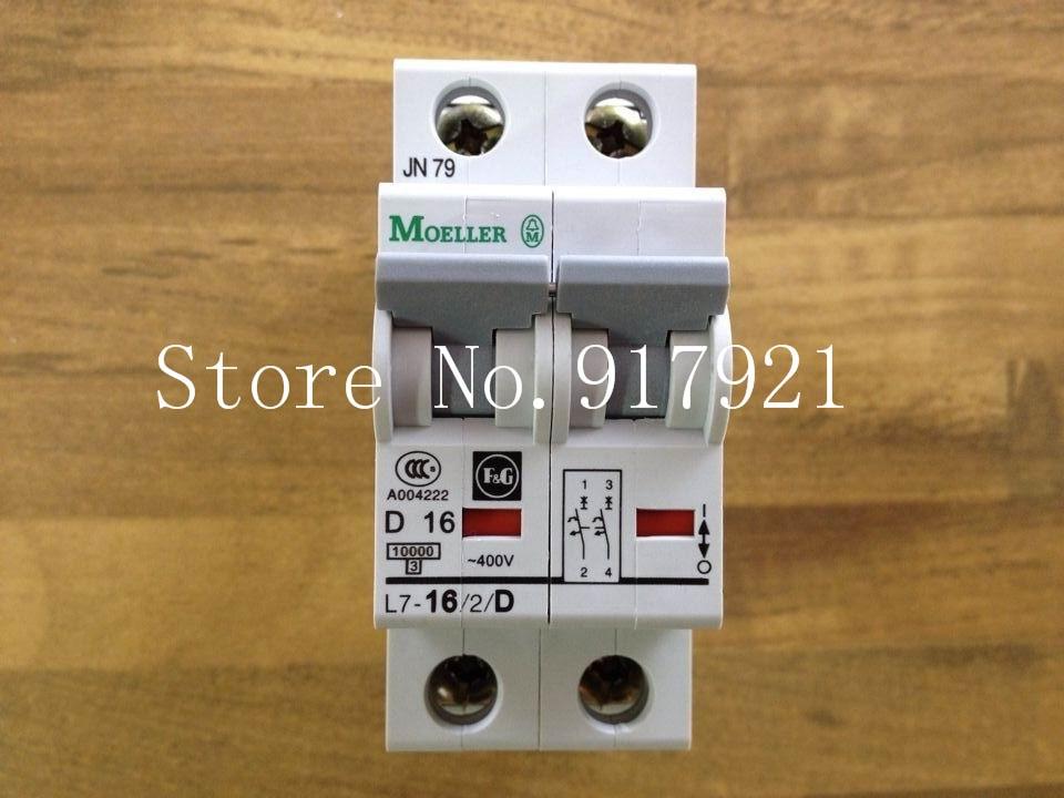 [ZOB] Muller MOELLER Eaton L7-16/2/D breaker 2P16A D16A genuine original --5pcs/lot цена