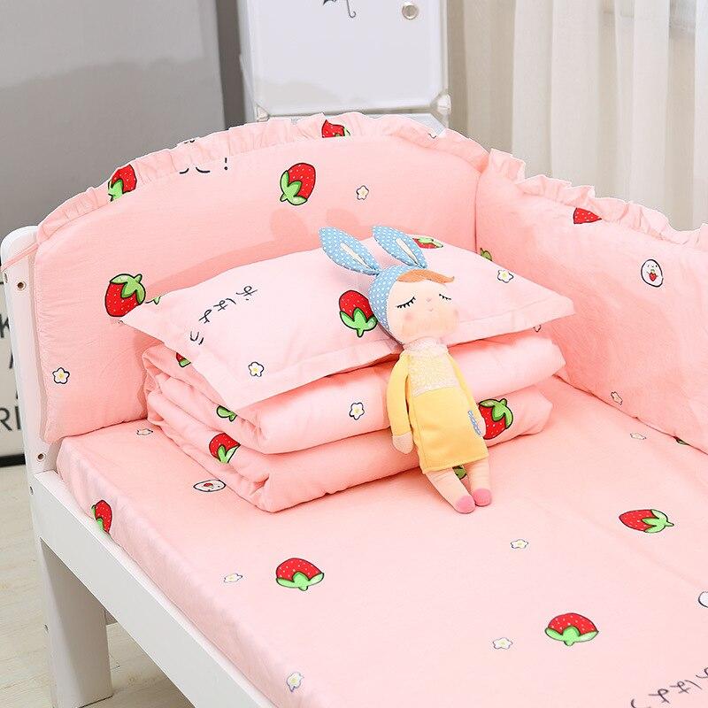 Хлопковая кровать для кроватки, окружающий Детский Комплект постельного белья, бампер для кроватки, Детская стеганая кровать