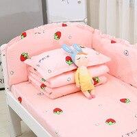 Cotton Crib Bed Surrounding Baby Bedding set Crib Bumper Baby Children Stitching bed around