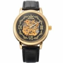 SEWOR Wristwatch Vintage Style Fashion Casual Male Clock Skeleton Steampunk Mechanical Wrist Men Watch Automatic erkek