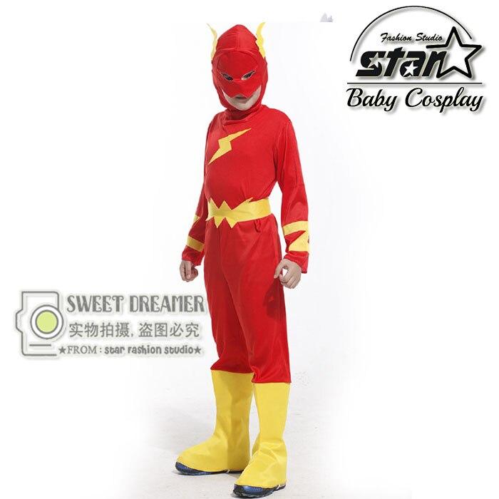 M-XL Plus Size Children's Halloween Costumes Boys Flash Superhero Kids XMAN Quicksilver Cosplay Carnival Stage Clothes