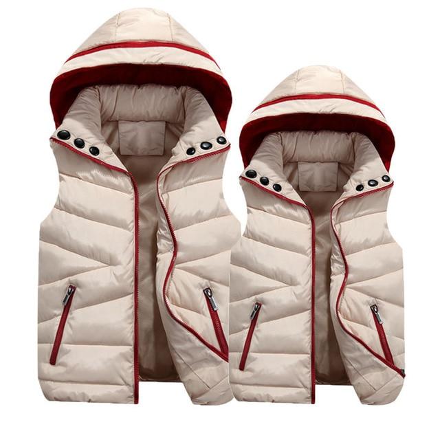 Plus Size Autumn Winter Coat Women Ladies Gilet Colete Feminino Casual Waistcoat Female Sleeveless Cotton Vest Jacket Y1021-56D