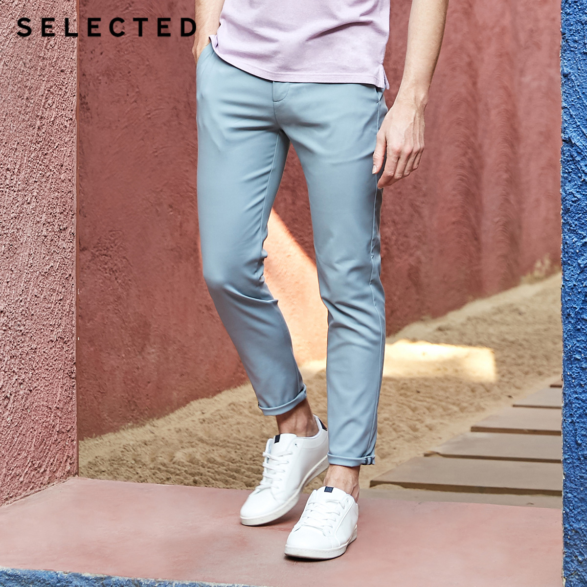 SELECTED Men's Spring Slight Stretch Casual Cotton Pants S|419114513