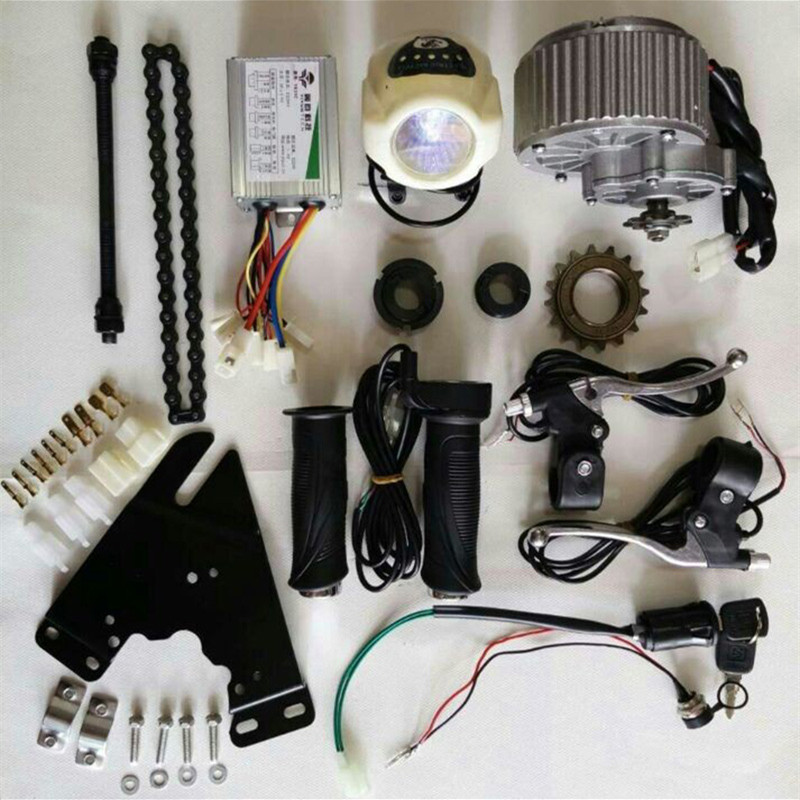 24V 36V 450W Upgrade Electric Bike Brush Motor Conversion Kit Throttle With Key Switch Brake Lever24V 36V 450W Upgrade Electric Bike Brush Motor Conversion Kit Throttle With Key Switch Brake Lever