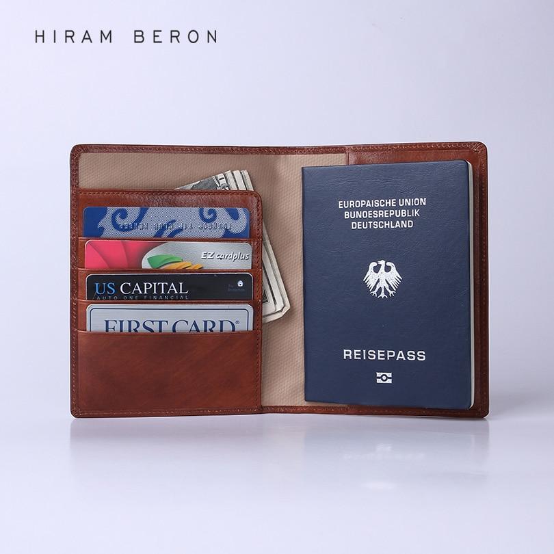 Hiram Beron Koža Putovnica Novčanik Novac Kartica Posao Muškarci - Putni pribor - Foto 3