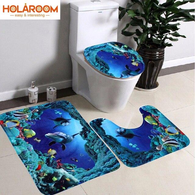Aliexpress.com: Acheter 3D Monde Sous Marin salle de bains Tapis ...