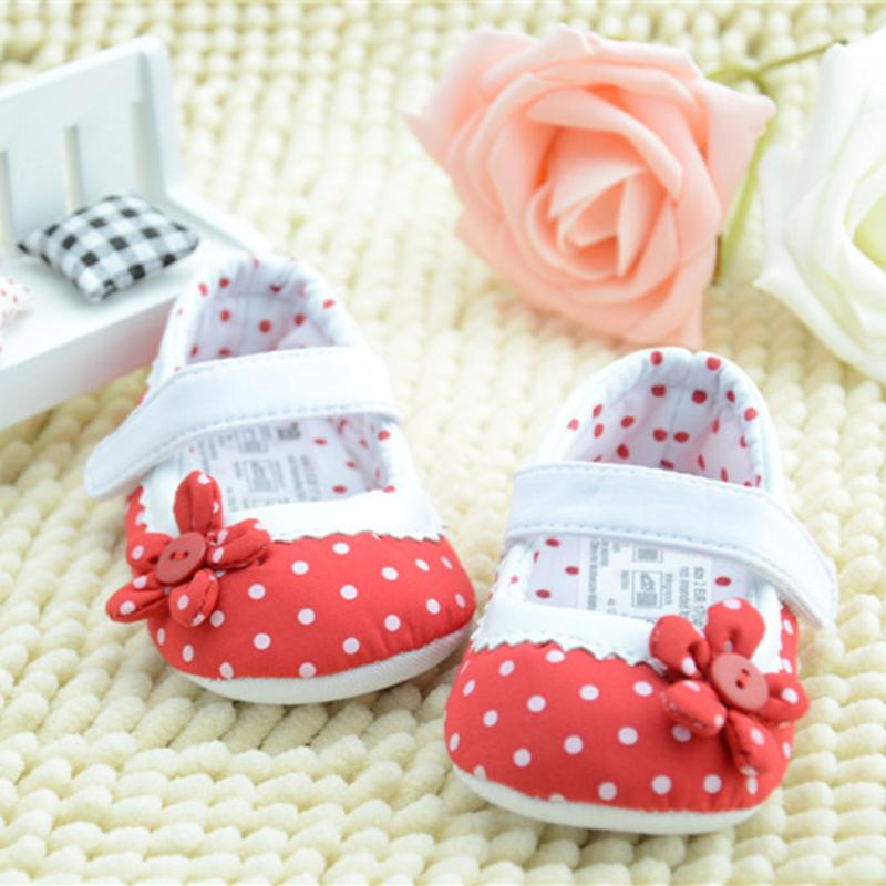Spring/Autumn Baby girls Cute first <font><b>Walkers</b></font> Infant Baby Tdler Girl Soft Shoes Red Got Flower Baby Shoes Cotton <font><b>Nude</b></font> Shoes