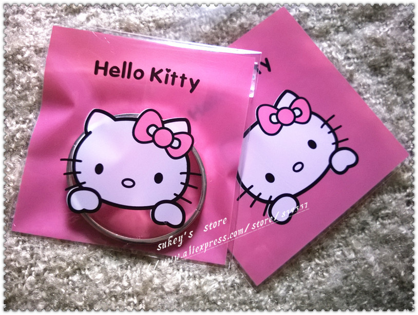100pcs lot 2size Cookie plastic bags pink hello kitty bags cake snack  baking packages10x10cm ab5d840838bbb