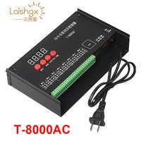 Hohe qualität T8000 AC110-240V Sd-karte Pixel Controller für WS2801 WS2811 LPD8806 MAX 8192 Pixel