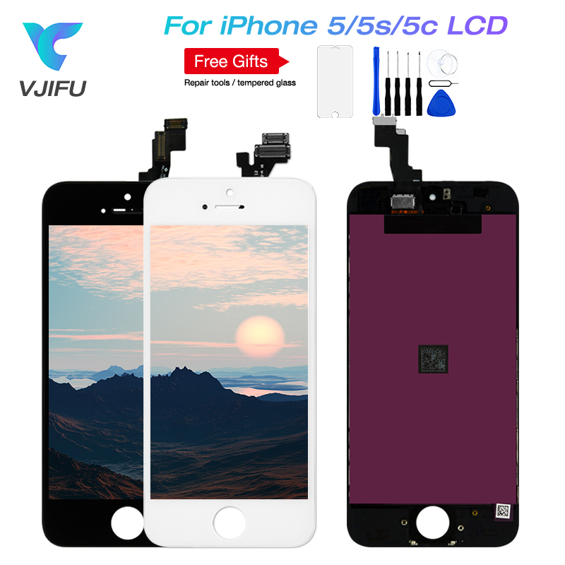 1PCS/Lot AAA++ Quality LCD Screen For iPhone 5S Display and Digitizer Replacement Touch 5 5C