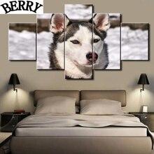 "5pcs 5d diy full diamond painting cross stitch""animals wolf dog"" home decor,5d square diamond embroidery mosaic wall stickers"