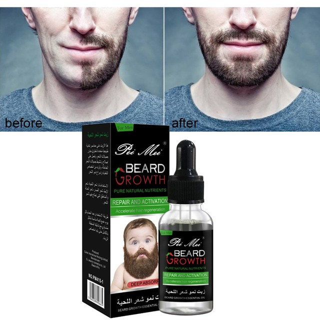 Pure Natural Beard Growth Essential Oil Gentle Nourishing Beard Care Moustache Beard Oil New Pro 1