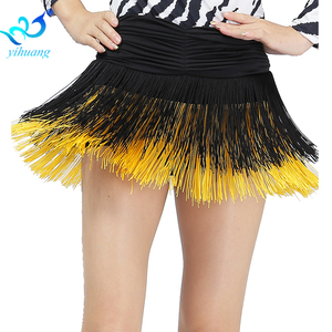 Image 4 - Ladies Latin Dance Costume Skirt Girls Salsa / Rumba / Samba / Belly Dancing Dress Fringe Performance Outfits With Shorts Inside
