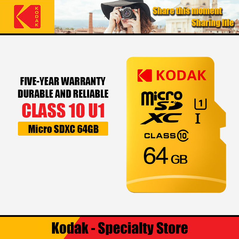 Kodak High Speed 16GB TF / Micro SD Card 32GB Cartao De Memoria Class10 U1 64GB Flash Memory Card Mecard 128GB Micro Sd Kart