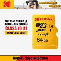 Kodak de alta velocidad de 16GB TF/tarjeta Micro SD cartao 32GB de memoria de class10 U1 64GB Flash tarjeta de memoria mecard Micro sd de 128GB de kart