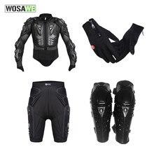 Wosawe мотоциклетная куртка Панцири комплекты Средства ухода за кожей Защитное снаряжение Перчатки Короткие штаны защитные наколенники комплект Мотокросс Body Armor