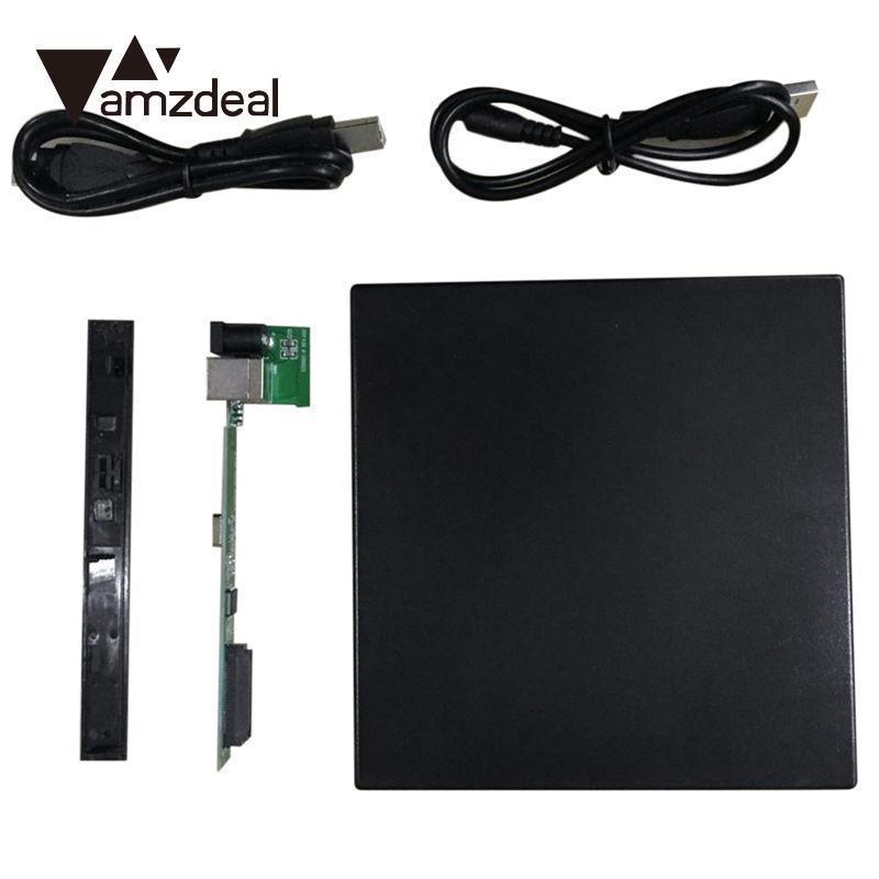 AMZDEAL Nova Magro Rígido SATA USB 2.0 12.7 milímetros Externo CD/VCD/DVD Gabinete CD-ROM Caso Para Laptop unidade óptica