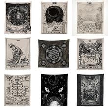 Индийская МАНДАЛА ГОБЕЛЕН настенный солнце и луна стены гобелен стены ковер психоделический гобелен колдовство настенный гобелен из ткани