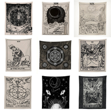 Индийская МАНДАЛА ГОБЕЛЕН Настенный Солнечный Луна Таро настенный гобелен настенный ковер психоделический ТАПИС колдовство настенный гобелен из ткани
