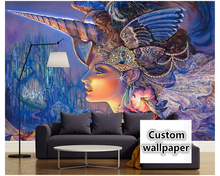 Custom photo wall wallpaper 3d luxury HD Fairytopia color art modern beautiful big