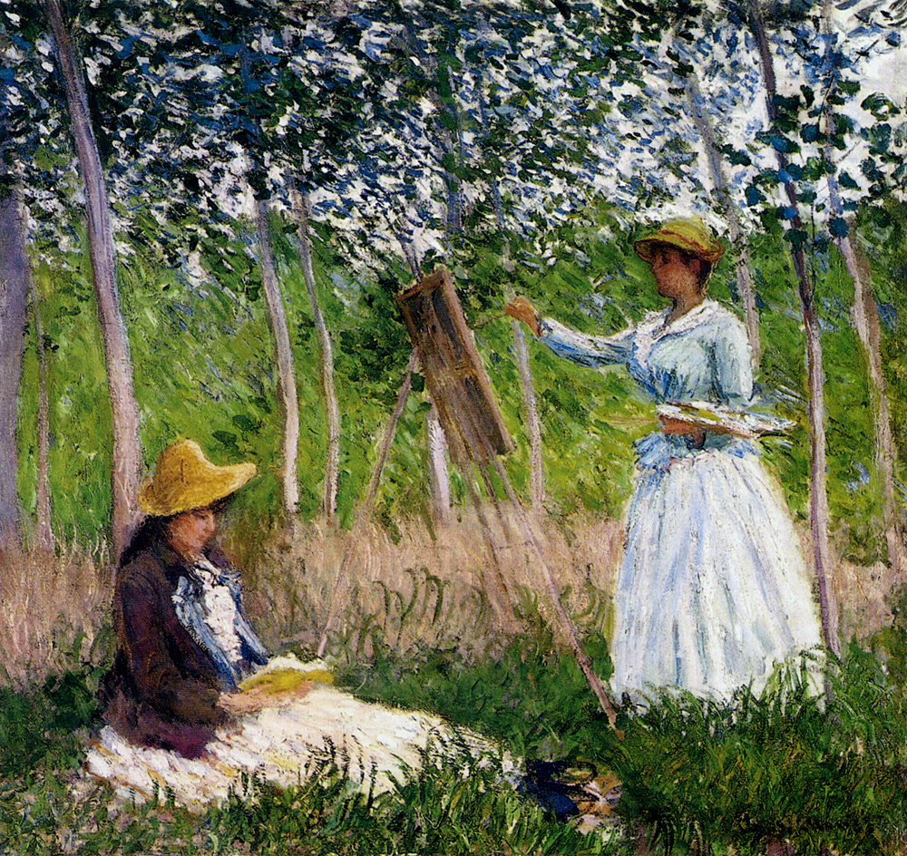100% handmade landscape oil painting reproduction on linen canvas,-in-the-woods-at-giverny-blanche-hoschede by claude monet,100% handmade landscape oil painting reproduction on linen canvas,-in-the-woods-at-giverny-blanche-hoschede by claude monet,