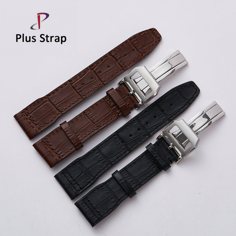 Wholesale 2PCS/lot Watch Band Strap for IWC Mark 17 replacement 22 mm Genuine Leather Watches Belt Bracelet [sa]takenaka frs2053 fiber line genuine 2pcs lot