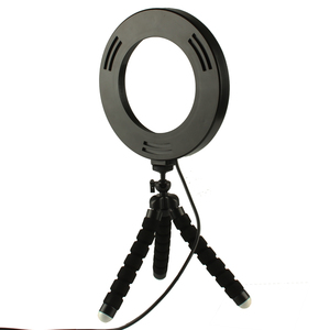 Image 4 - Mini LED Ring Light 3 Color Modes & 10 Brightness Level Portable Video 16CM Annular Lamp for Youtube Photo Shooting Tripod