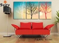 Abstract Canvas Schilderij Moderne Olie Picture Grote 3 Stuk Zwart Wit En Rood Wall Art Set Voor Woondecoratie Gift