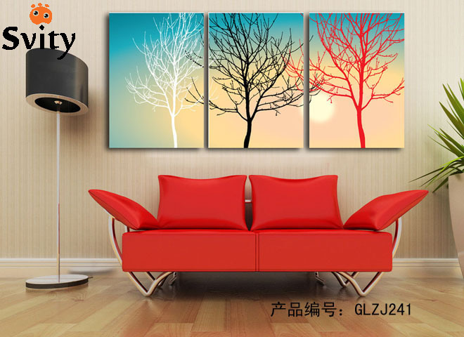 Abstract Canvas Painting Modern Oil Picture Large 3 Piece