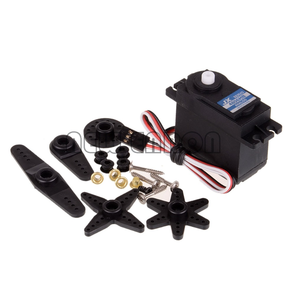 PDI-4806HB RC JX Digital Servo 6KG 180 degree Arms For RC Model Car Robot jx pdi 6221mg 20kg large torque digital standard servo for rc model