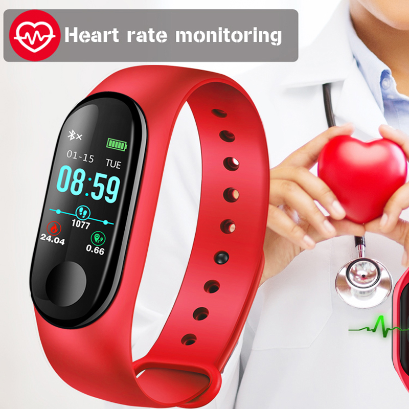 BANGWEI Smart Sport Watch IP67 Waterproof Watch Blood Pressure Heart Rate Monitoring Pedometer Smart Watch Men For Android iOS in Digital Watches from Watches
