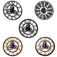 60cm Retro Rustic Decorative Luxury Art Big Gear Wooden Vintage Large Wall Clock On The Wall Handmade Gifts