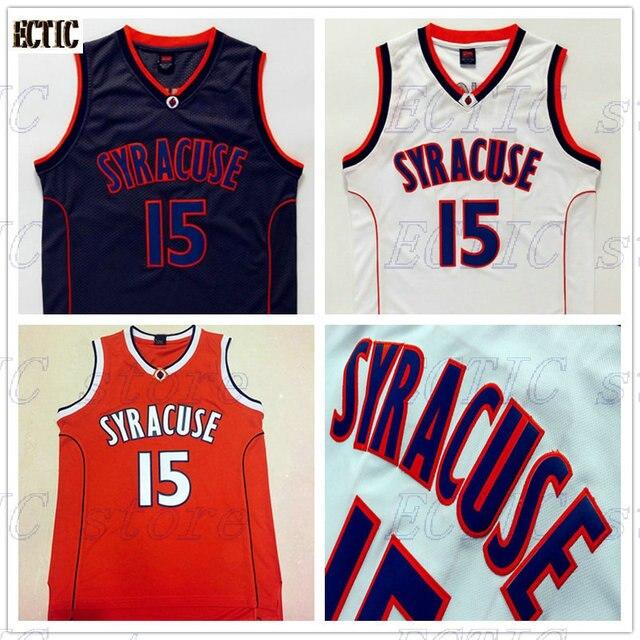 62f855f42b8 2018 hot sale Carmelo Anthony  15 Syracuse Orangemen bule white Orange  College Men Basketball Jersey 100% Stiched