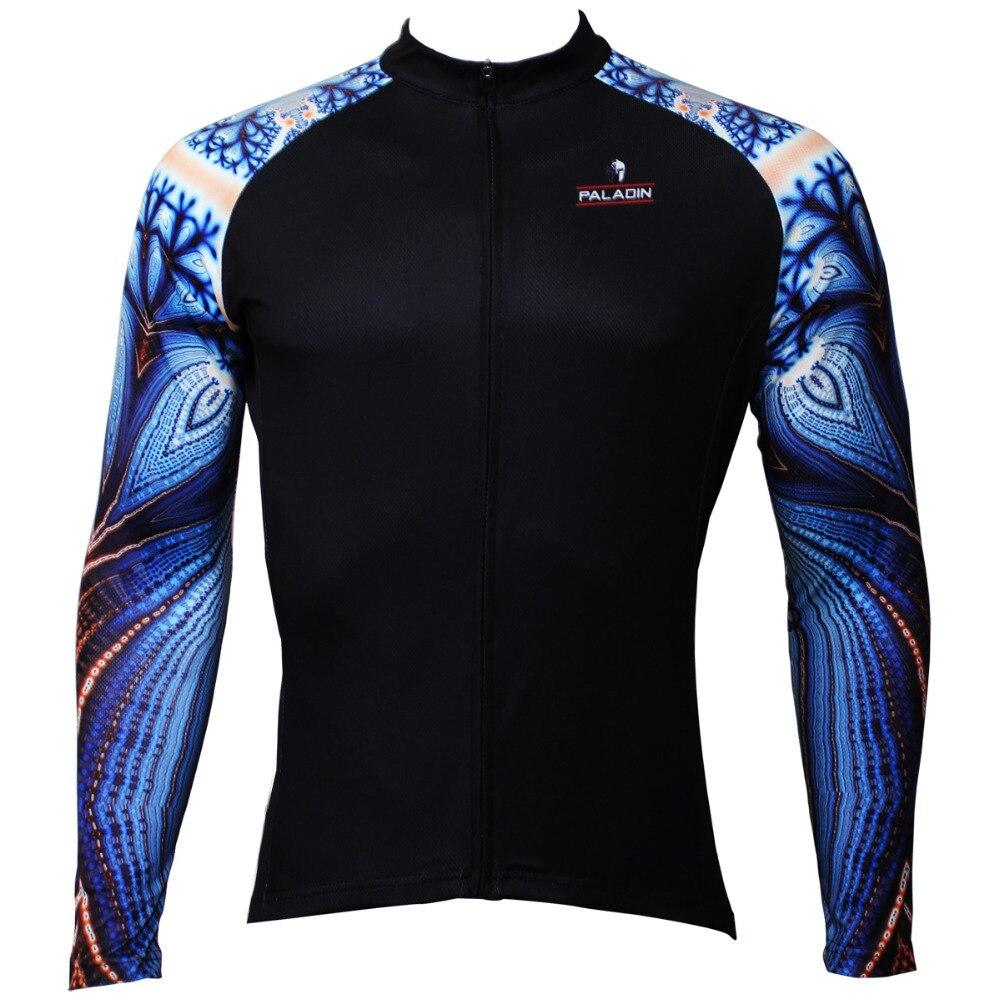 Nový modrý papoušek vzor muži osobnost dlouhý rukáv cyklistika dres cyklistika dres polyester polyester prodyšný cyklistika nejvyšší velikost S do XXXL