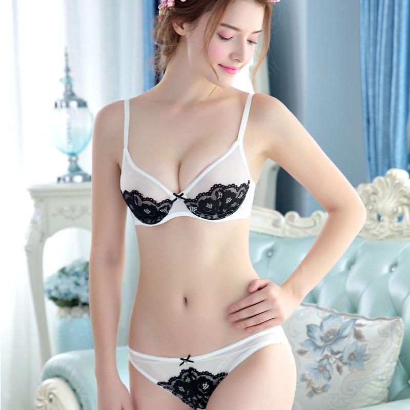 Hot 2017 Lace Bralette Briefs Soft Triangle Bra Panty Sets -5990