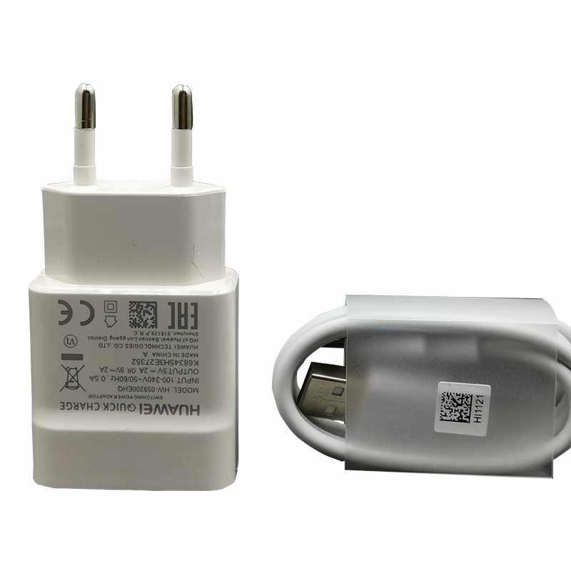 هواوي 9V2A الاتحاد الأوروبي شاحن QC 2.0 سريع سريع محول للشحن USB نوع-c ل nova3 3i 4 الشرف 9 8x p7 p8 p9 p10 p20 لايت ماتي 7 8 9