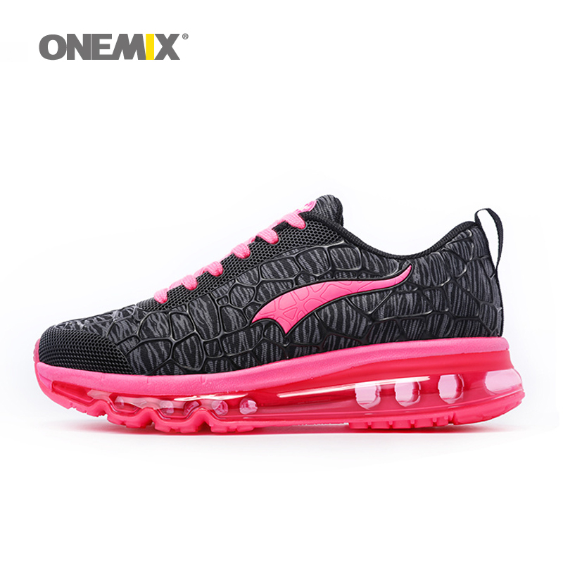 Onemix new Running Shoes for woman Sport Sneakers Damping Outdoor Breathable Summer Womens Jogging Shoes Size 36-40 peak sport men outdoor bas basketball shoes medium cut breathable comfortable revolve tech sneakers athletic training boots
