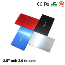 2017 Aluminum hdd box USB 2.0 to SATA 2.5″ up to 1TB hdd 2.5 enclosure caddy High quality for sale for hd externo
