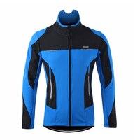 Winter Men Thermal Cycling Jacket Winter Warm Up Bicycle Clothing Windproof Waterproof Sports Coat MTB Bike