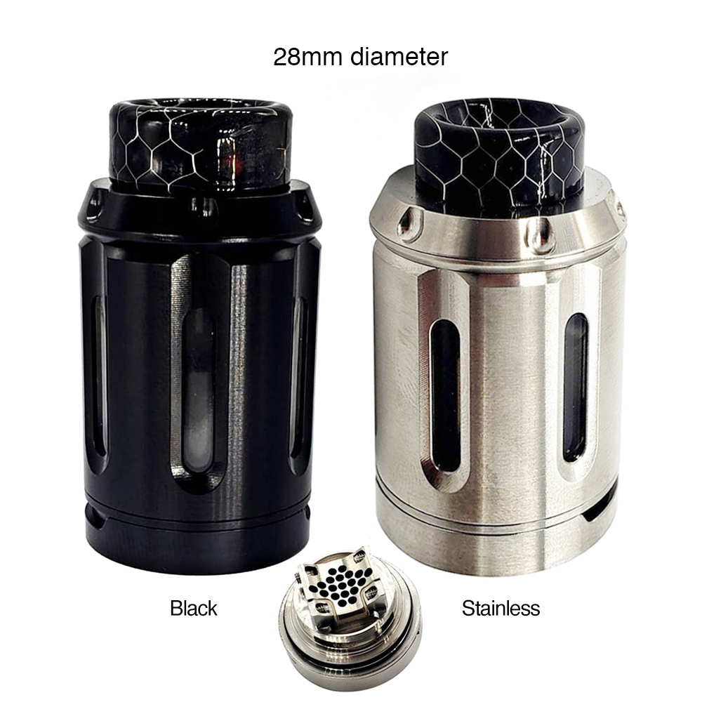 Originale Heavengifts Calamari Industrie PeaceMaker XL RTA 5 ml/9 ml Atomizzatore 28 millimetri RTA per Vape Mod Box E Cig VS Manta RTA/Zeus Dual
