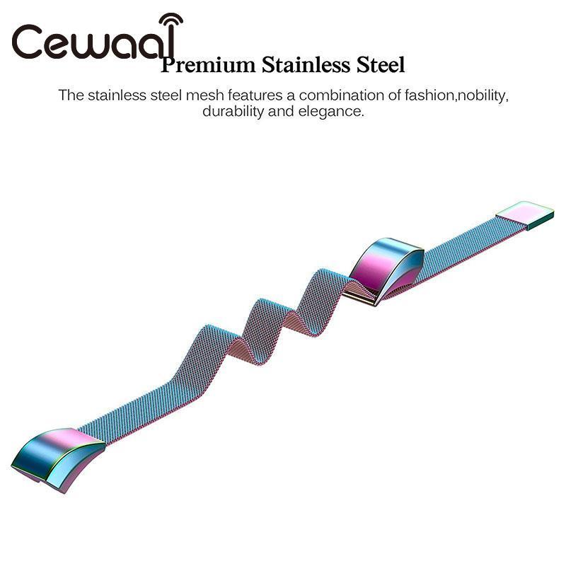 Cewaal 4 colors Metal High Quality Replacement Strap Wrist Band Belt for Fitbit Alta Bracelet HR Monitor Smart Watch Accessories