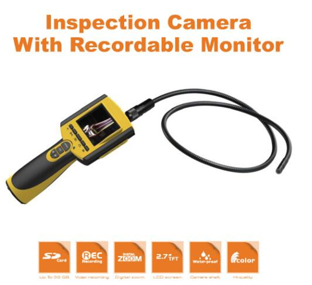 2.7 Inch 9mm 3X Zoom Take Photo and Video AV Handheld Endoscope Inspection CMOS Borescope usb handheld endoscope zoom 1 50x 800x microscope take photo and video
