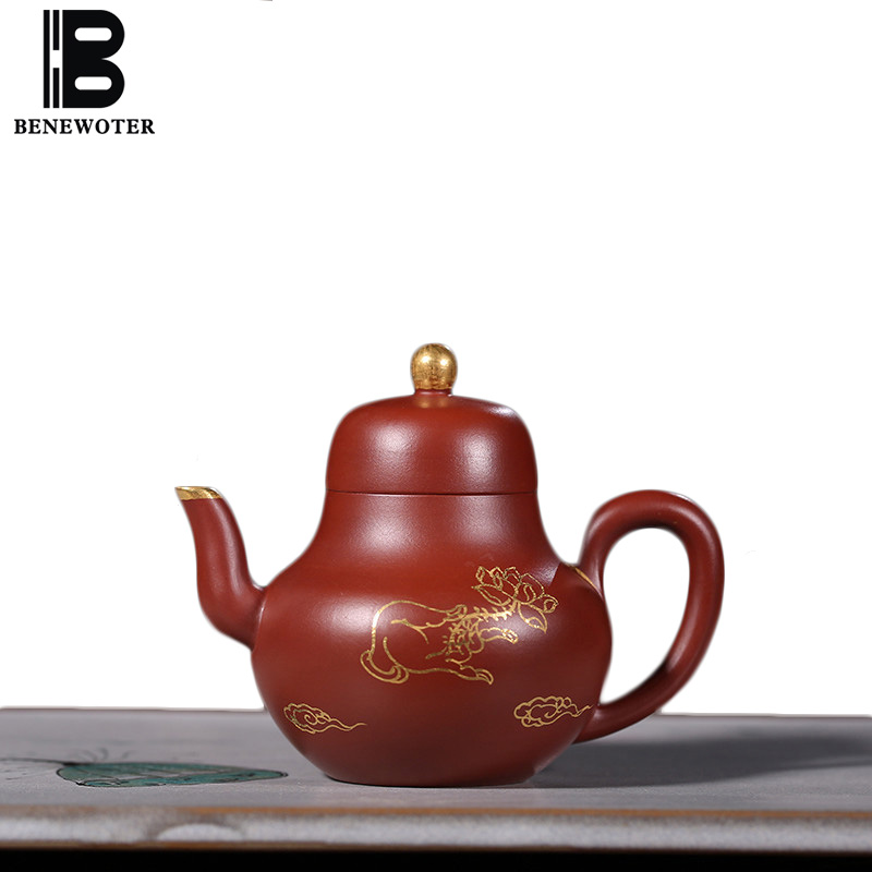 100cc Исин Аутентичные фиолетовый глина Чай горшок дома Малый Ёмкость Посуда для напитков Чай церемонии сырья Ore Мини Zisha горшок Чай Улун чайни