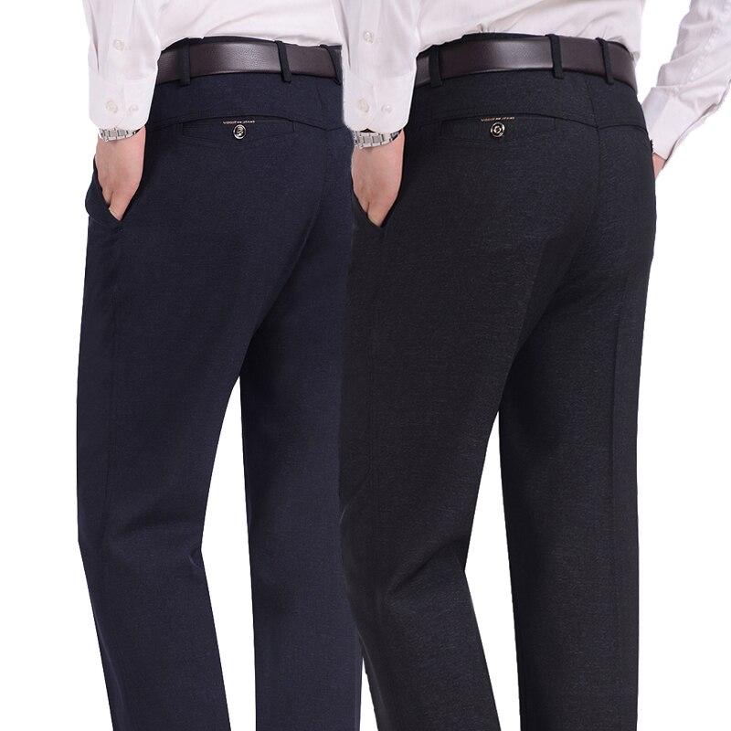 #2838 Herbst Winter Dicken Mittleren Alter Männer Formelle Hosen Für Männer Gerade Plus Größe Pantalon Kostüm Homme Kleid Hosen Lose