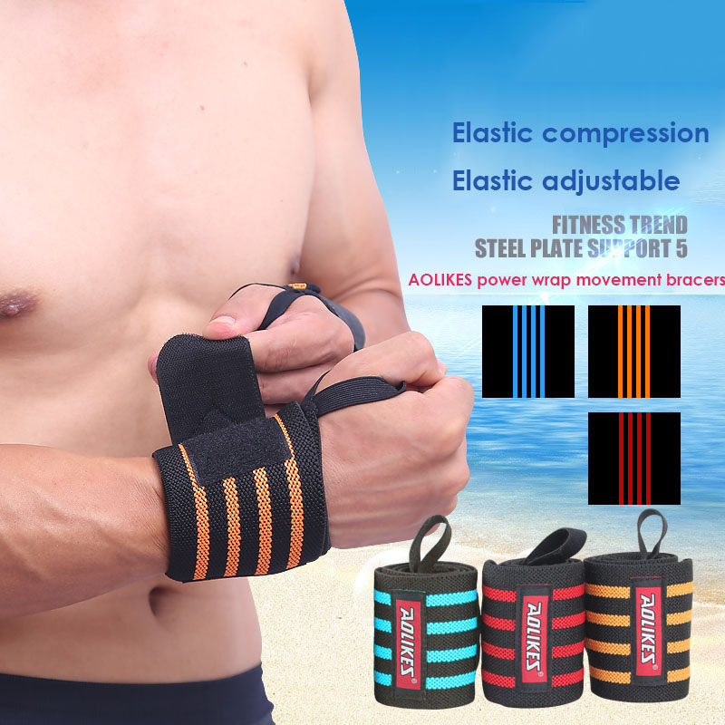 AOLIKES 1Pair Hand Safety Support Polyester Wrist Strap font b Weight b font font b Lifting